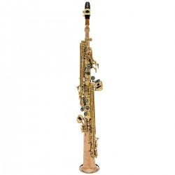 John Packer JP043R: Bb Soprano Saxophone Rose Brass Body & Crook